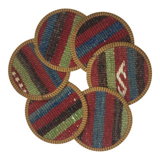 Kilim Coasters Set of 6   Sevil