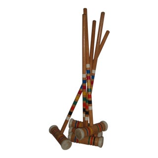 Vintage Croquet Mallets - Set of 5