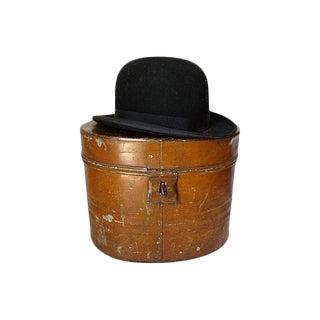 1930s English Gentlemans Hat w/ Metal Box