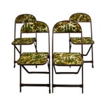 Image of Vintage Tapestry Folding Chairs - S/4