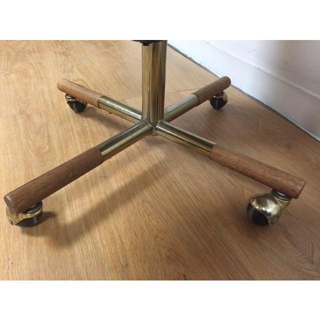 Milo Baughman Style Brass Office Desk Chair - Image 10 of 11