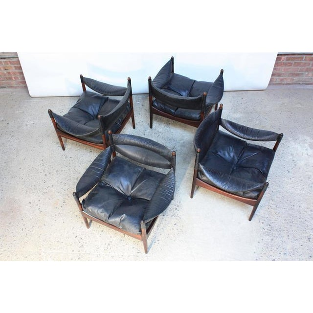 Set of Four Kristian Solmer Vedel 'Modus' Rosewood Lounge Chairs - Image 5 of 10