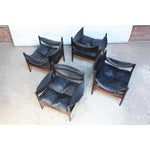 Image of Set of Four Kristian Solmer Vedel 'Modus' Rosewood Lounge Chairs