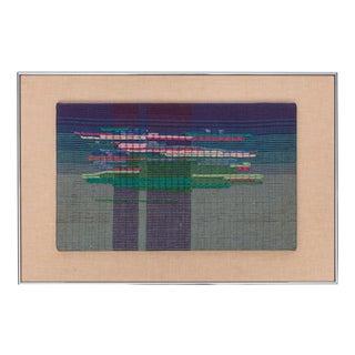 """Nancy Lyon 1970's Weaving, """"Monet's Pond"""""""