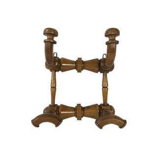 French Carved Wood Coat Rack