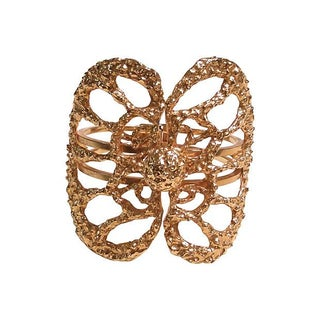 Brutalist Runway Cut-Out Butterfly Cuff