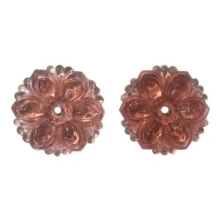 Set Of 6 Sex and the City Charlotte York - Pink Glass Rosette Curtain Tiebacks