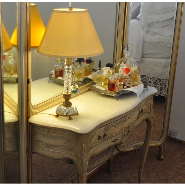 Vintage 1920s French Louis XV Style Vanity - Image 5 of 11