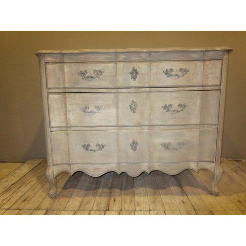 Image of Grey Painted Vintage 1940's Louis XV Dresser