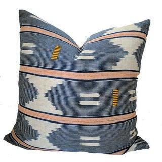 Vintage African Baule Ikat Mudcloth Pillow