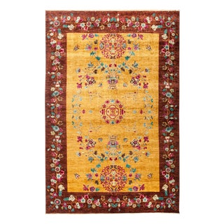 "New Hand Knotted Area Rug - 6'3"" x 9'1"""