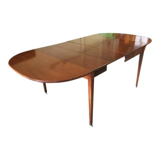 Mahogany Double Drop Leaf Table With Inlay