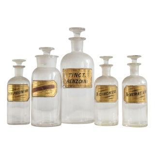 19th Century Apothecary Jars - Set of 5