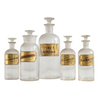 19th Century Apothecary Jars - Set of 5
