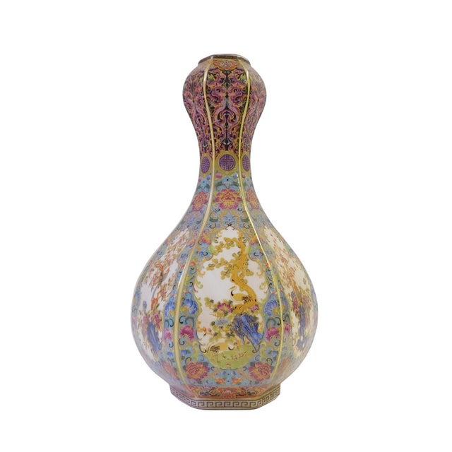 Floral Hexagon Porcelain Vase - Image 1 of 7