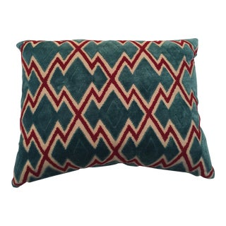 Teal & Red Graphic Lumbar Pillows - A Pair