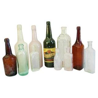 Antique Bottle Collection - Set of 11