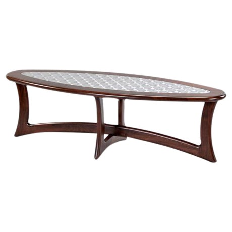 Walnut Deco Coffee Table - Image 1 of 5