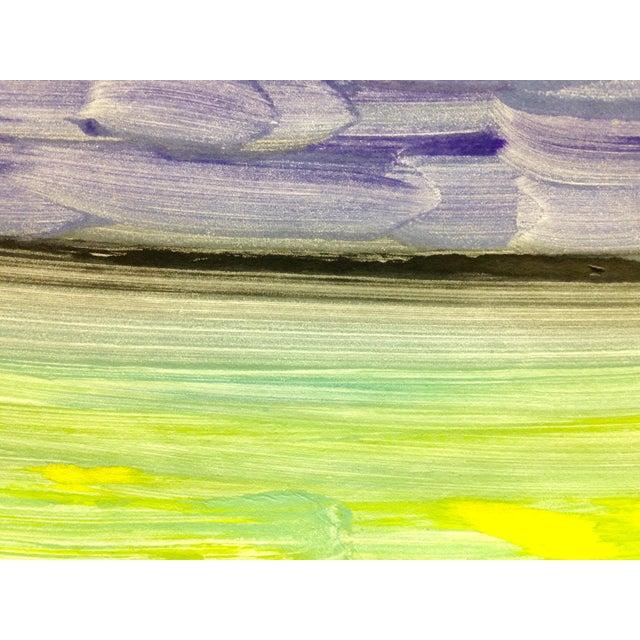 "Image of ""Purple Night"" Handmade Ocean Print, 2016"