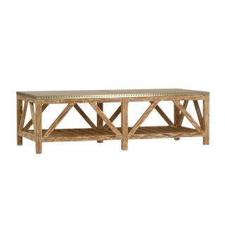 Zinc Top Reclaimed Pine Coffee Table