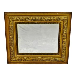 Antique Victorian Gold Gilt Mirror