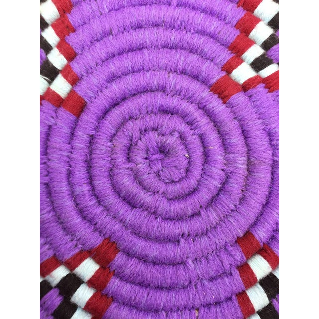 Purple and Red Moroccan Wool Tray - Image 5 of 8