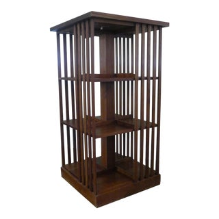 Stickley Mission Cherry Revolving Bookcase