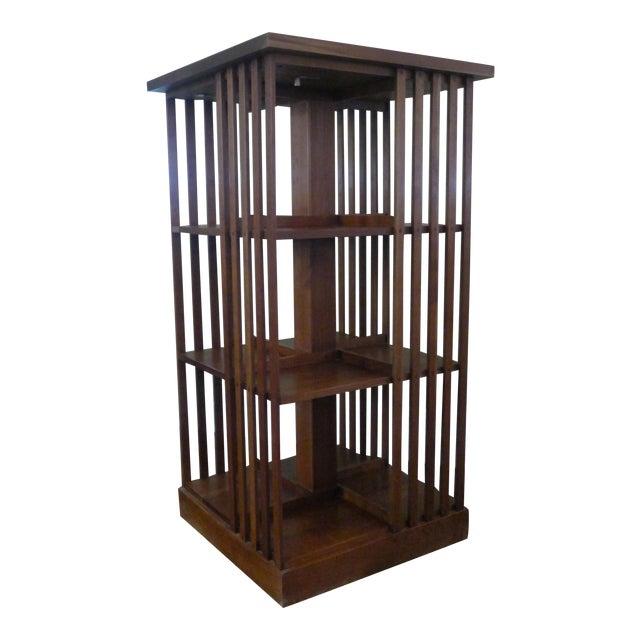 Stickley Mission Cherry Revolving Bookcase - Image 1 of 5
