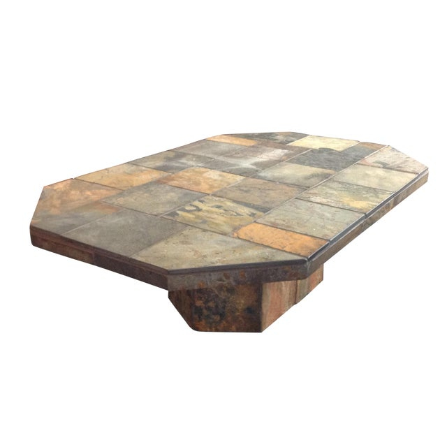 African slate coffee table chairish African coffee tables