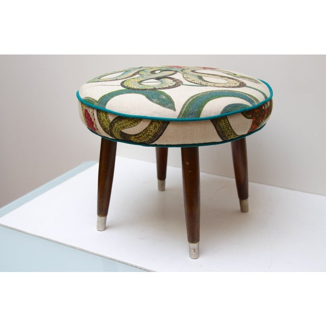 Snake Upholstered Footstool - Image 2 of 6