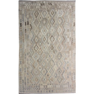 "Hand-Knotted Modern Kilim by Aara Rugs - 9'7"" x 6'10"""