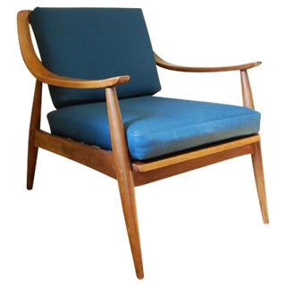 Danish Modern Vintage Lounge Chair with New Upholstery