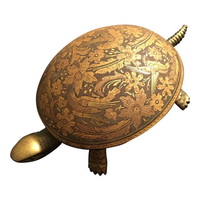 Antique Boj Eibar Bell Ring Service Turtle - Image 1 of 6