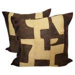 Image of African Kuba/Mud Cloth Pillows - Pair