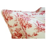 Image of French Country Toile Pillows - A Pair