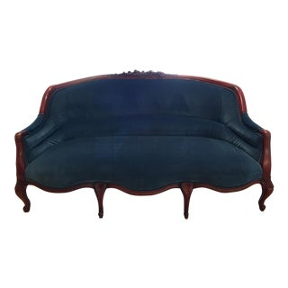 Anthropologie Amelie Velvet Sofa in Indigo Velvet