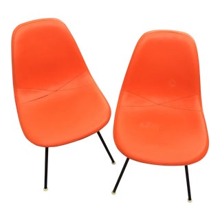 '59 Herman Miller Padded Eames Shell Chairs - Pair