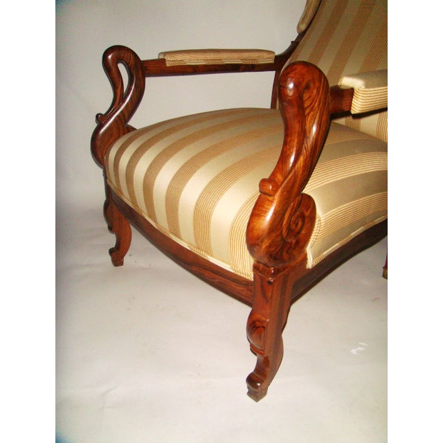 Louis Phillipe Wing Back Armchair - Image 4 of 6