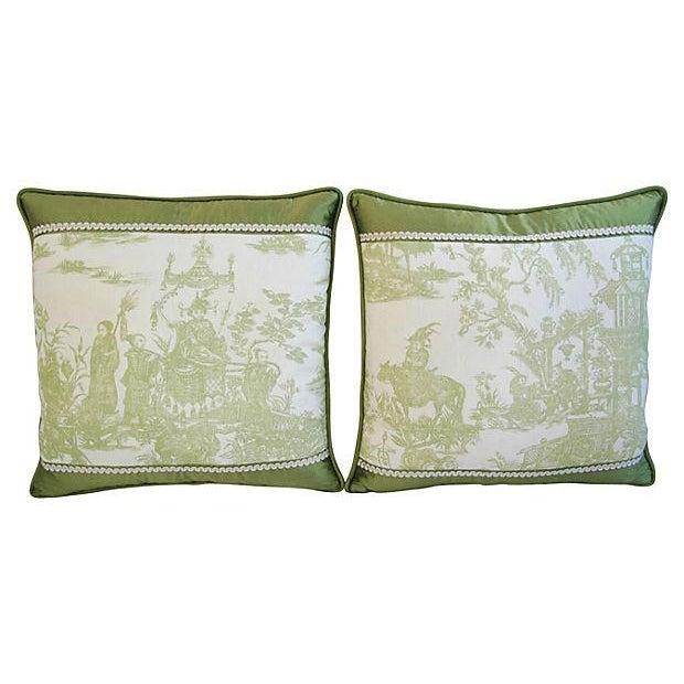 Designer Chris Stone Chinoiserie Pillows - Pair - Image 6 of 8