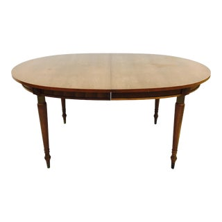 Vintage Wooden Dining Table With Leaf