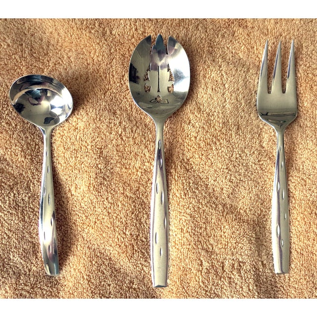 Wallace sterling silver mid century service 12 chairish for Burke and wallace silversmiths