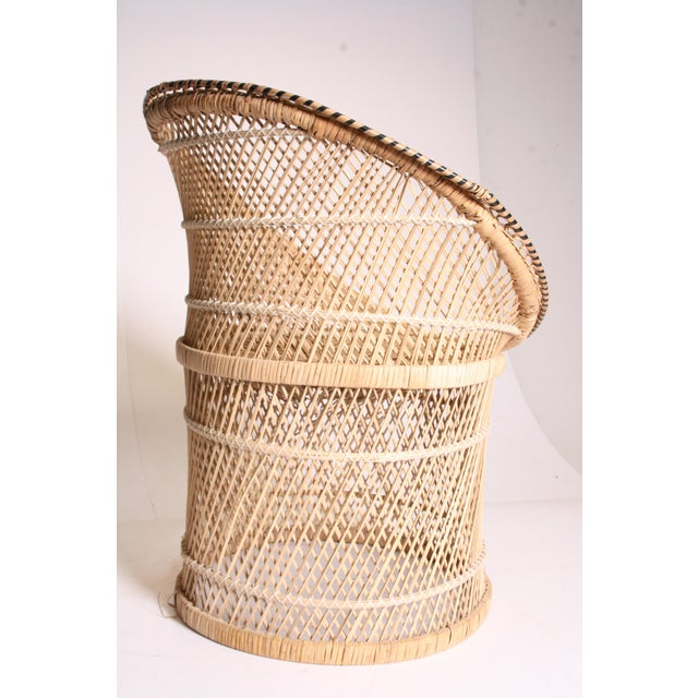 Vintage Boho Chic Wicker Pod Chair - Image 6 of 11