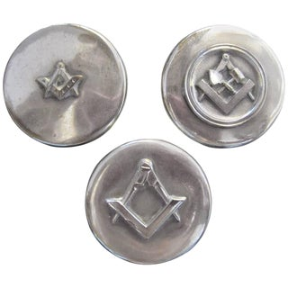 Masonic Silver Plated Keepsake Holders - Set of 3