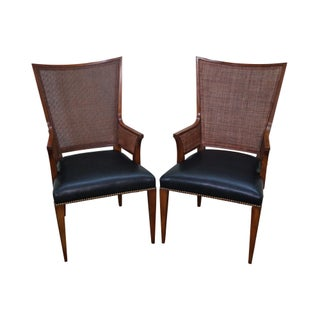 Widdicomb Mid Century High Back Arm Chairs - A Pair