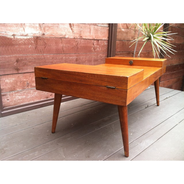 Vintage Rock-Ola Coffee Table / Game Table - Image 5 of 11