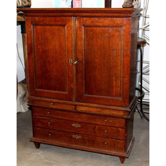 Mahogany Linen Press Cabinet - Image 2 of 4