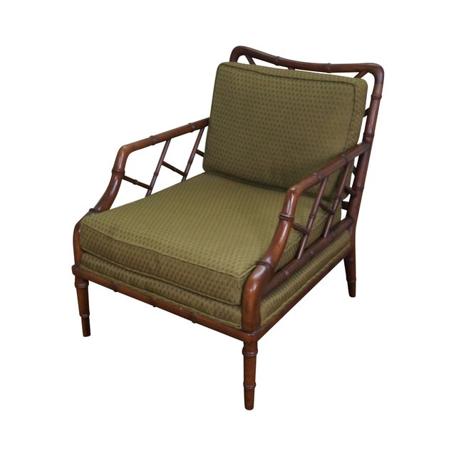 Century Furniture Co. Faux Bamboo Lounge Chair - Image 1 of 10