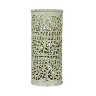 Soft Green Pierced Marble Vase