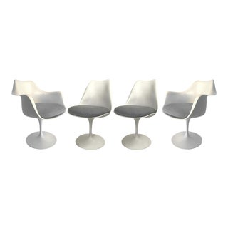 Early Eero Saarinen for Knoll Tulip Armchairs & Side Chairs - Set of 4