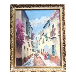 Sevilla Street Scene Oil Painting